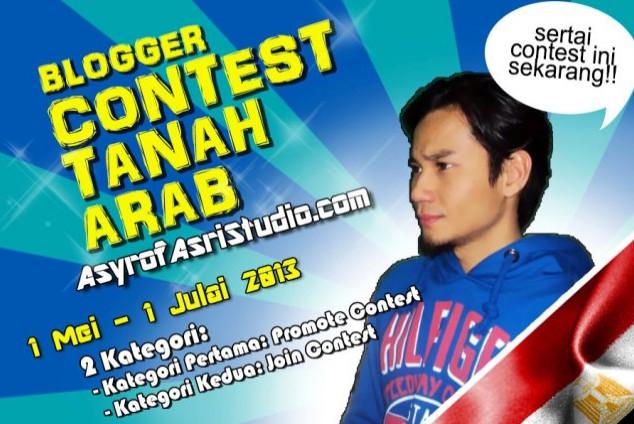 blogger contest tanah arab