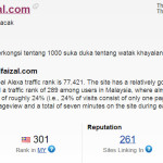 Rank alexa.com ahmadfaizal.com - mei 2013