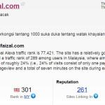 Rank alexa.com ahmadfaizal.com - mei 2013