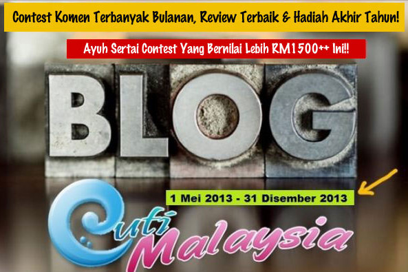 contest komen terbanyak bulanan blog cutimalaysia
