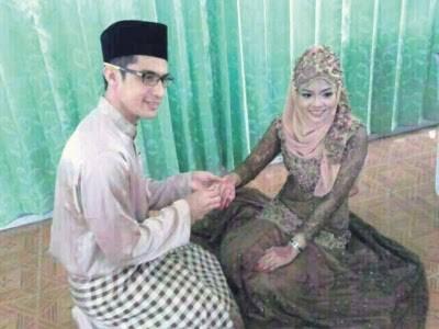 Gambar pernikahan Asyraf Muslim dengan Wan Sakinah