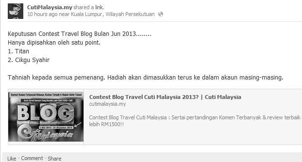 contest cuti malaysia