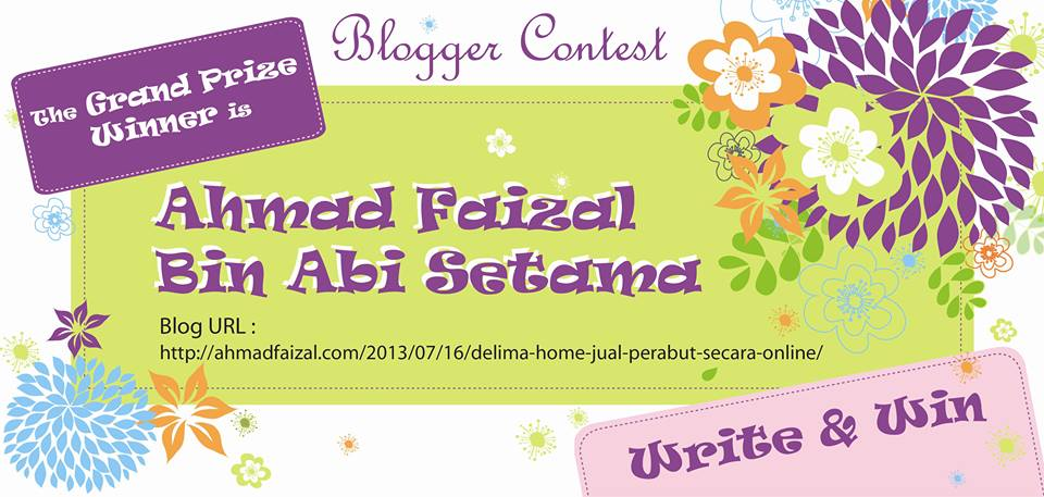 Delima Home Write & Win Blogger Contest