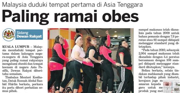 malaysia negara obes