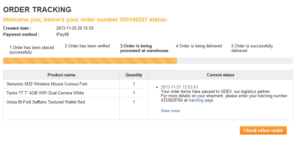 lazada order tracking
