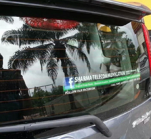 Custom Made Sticker Kereta Sharma Telecommunication