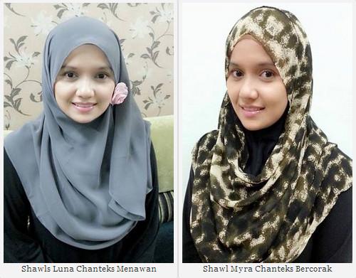 cantik berhijab dengan fesyen terkini shawl dari hijabterkini