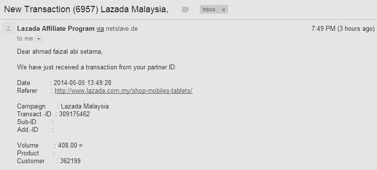 komisen terbaru lazada malaysia 2014