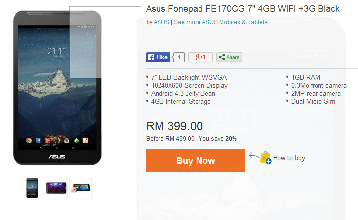 asus fonepad 4gb black