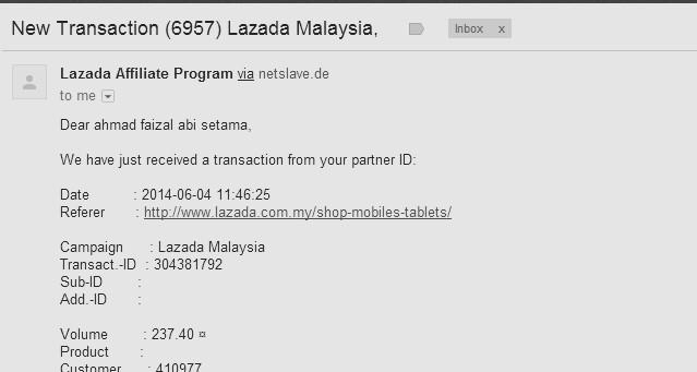 komisen affiliate lazada mei 2014