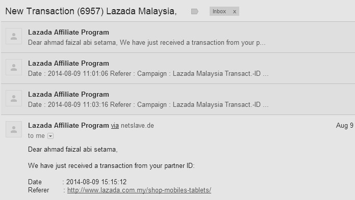 komisen affiliate lazada malaysia ogos 2014