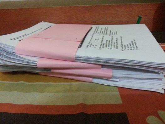 kertas exam budak sekolah