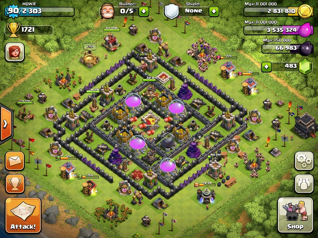 town hall level 9