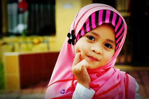 tudung pink
