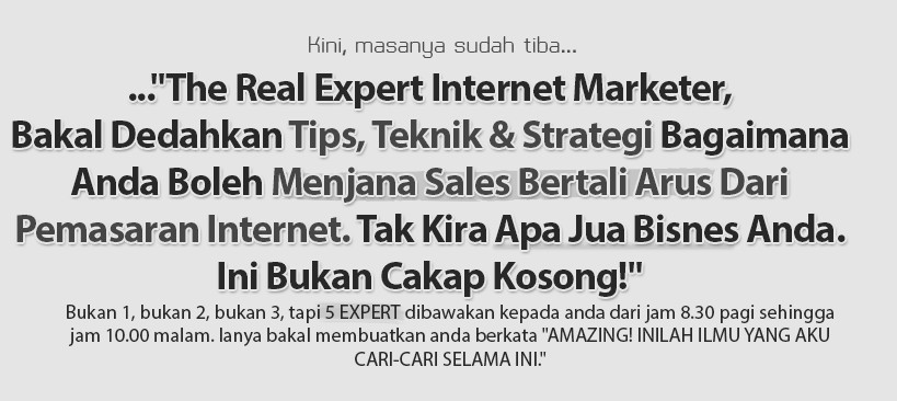 the real experts internet marketer - lejen im malaysia