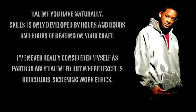 work hard always beat talent
