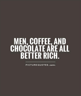 Men coffee chocolate