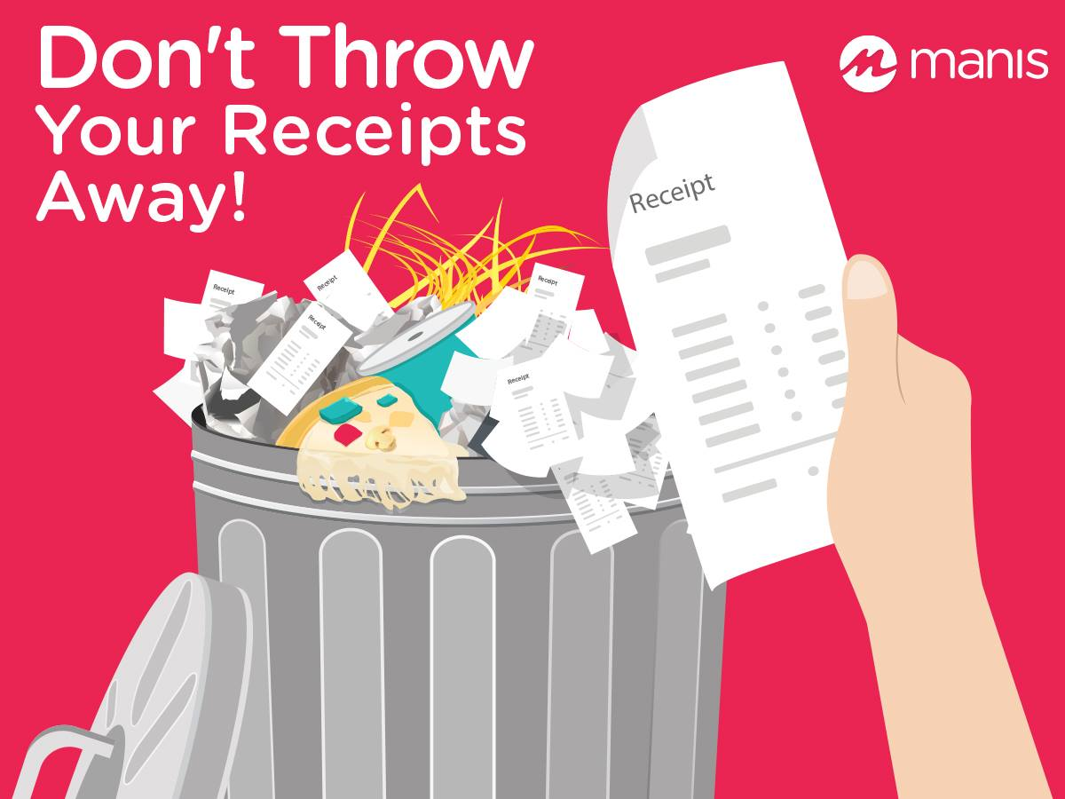 Don't THROR your Receipts Away