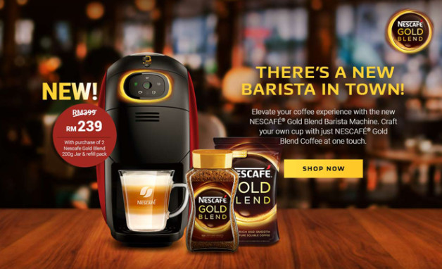 Nescafé gold barista machine