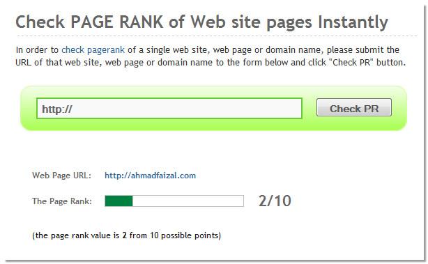 check page rank