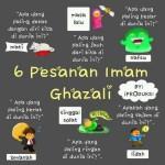 6 Pesanan Imam Ghazali yang tidak terkalah.