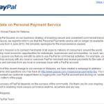 Paypal Personal Payments sudah dihapuskan.