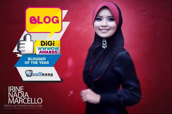 blogger of the year by nuffnang digi wwwow awards irine nadia marcello