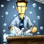 lelaki basuh pinggan