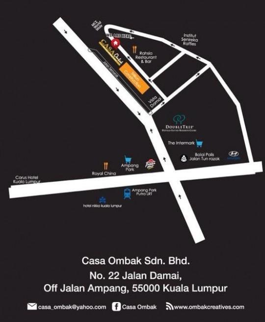casa ombak ramadhan buffet - peta google map