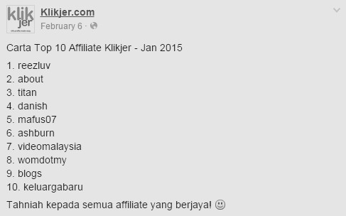 top klikjer jan 2015