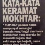 kata KERAMAT Mokthar Dahari